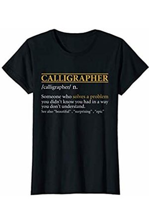 BBP Designs Womens Funny CALLIGRAPHER definition Birthday or Christmas Gift T-Shirt