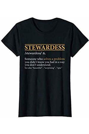 BBP Designs Womens Funny STEWARDESS definition Birthday or Christmas Gift T-Shirt