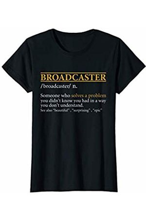 BBP Designs Womens Funny BROADCASTER definition Birthday or Christmas Gift T-Shirt
