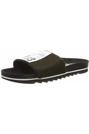 THE WHITE BRAND Men's Bio Label Open Toe Sandals, Army