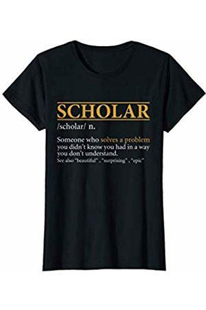 BBP Designs Womens Funny SCHOLAR definition Birthday or Christmas Gift T-Shirt