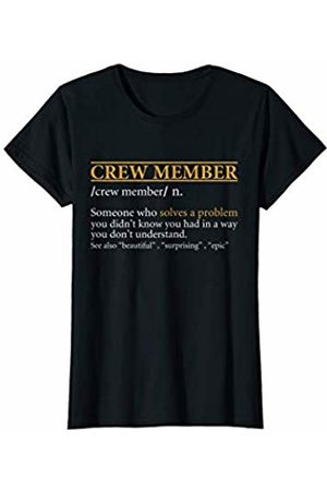 BBP Designs Womens Funny CREW MEMBER definition Birthday or Christmas Gift T-Shirt