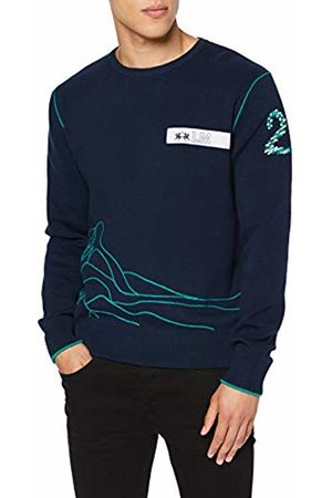 La Martina Men's Man Tricot Gg12 Crew Neck Sweatshirt