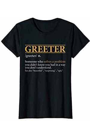 BBP Designs Womens Funny GREETER definition Birthday or Christmas Gift T-Shirt