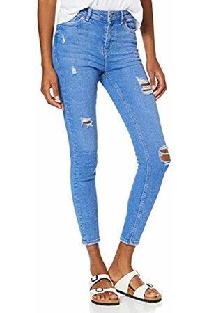 New Look Women's Ripped Jaffa Skinny Jeans, (Denim Only) 46