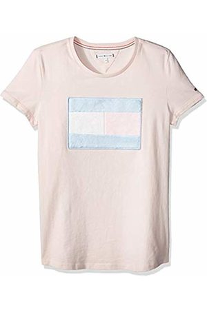 Tommy Hilfiger Girl's Fur Flag Tee S/s T-Shirt, (Barely 617)