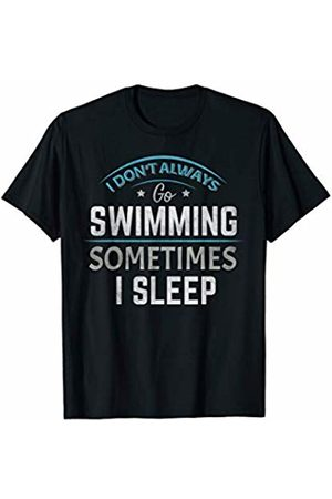 Swimming - By Tick Tock Swimming Swim Water Sports Swimmer School College Squad Team T-Shirt