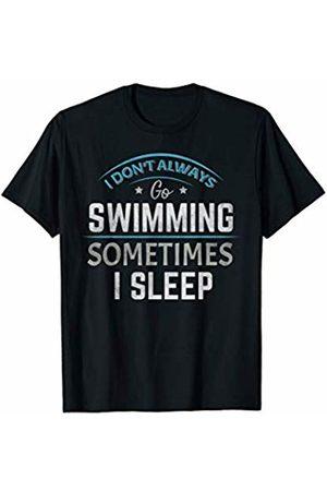 Swimming - By Tick Tock Swimming Swim Water Sports Swimmer School College Squad Team T-Shirt