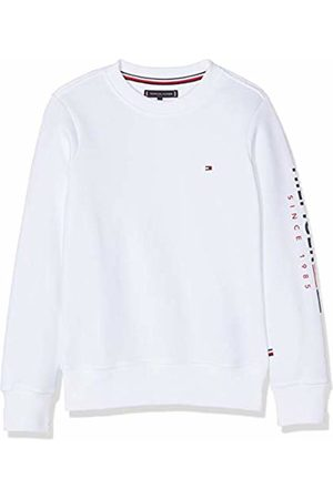 Tommy Hilfiger Boy's Flags Interlock Crew Sweatshirt, (Bright 123)