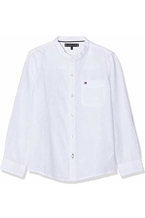 Tommy Hilfiger Boy's Essential Cotton Linen Shirt L/s Blouse, Bright 123