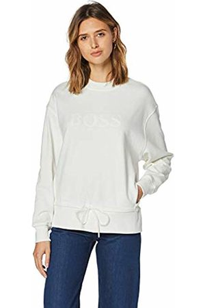 HUGO BOSS Women's Tathisis Sweatshirt, (Open 118)
