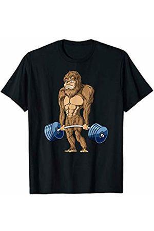DeadLifting Weights Apparel Co Women T-shirts - Deadlifting Sasquatch Bigfoot Weightlifting Workout T-Shirt