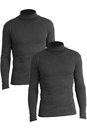 Lower East Slim Fit Rollkragen Shirt Turtleneck, Anthrazit Melange), Medium