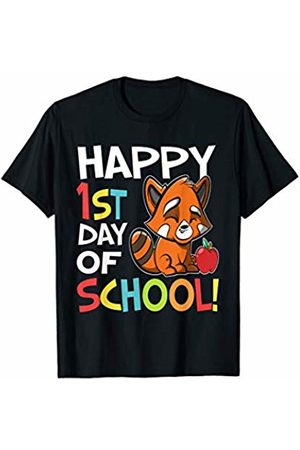 OKAI Tees First Day of School Shirts Happy 1st Day of School Shirt Back to School Red Panda T-Shirt
