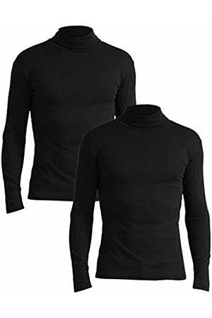 Lower East Slim Fit Rollkragen Shirt Turtleneck, Schwarz), Large