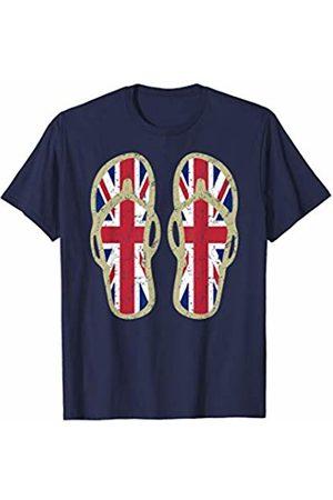 Cool Union Jack Tees U.K. Flag Flip Flops T-Shirt | Classic retro vintage graphic