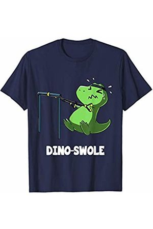 Dibba Designs Dino Swole T-Rex Dinosaur Lover Exercise Fitness Gym Workout T-Shirt