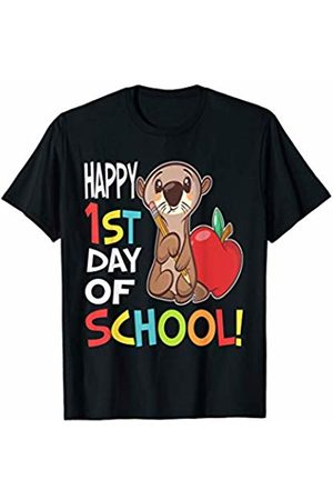 OKAI Tees First Day of School Shirts Happy 1st Day of School Shirt Back to School Otter T-Shirt