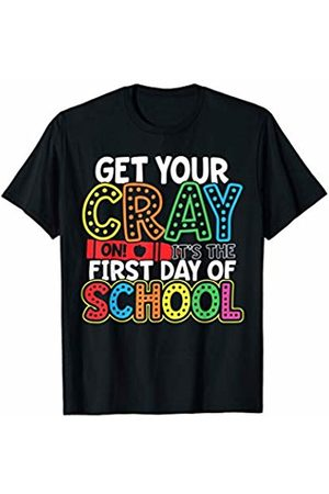 Merchalize Get Your Crayon It's The First Day Of School Teacher Student T-Shirt