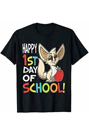 OKAI Tees First Day of School Shirts Happy 1st Day of School Shirt Back to School Fennec Fox T-Shirt