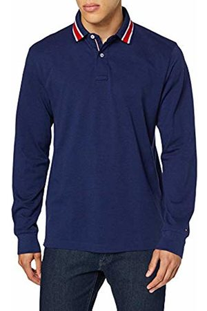 Tommy Hilfiger Men's Indigo Regular Ls Polo Shirt, (Maritime Heather 430)