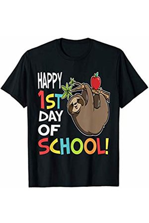 OKAI Tees First Day of School Shirts Happy 1st Day of School Shirt Back to School Sloth T-Shirt