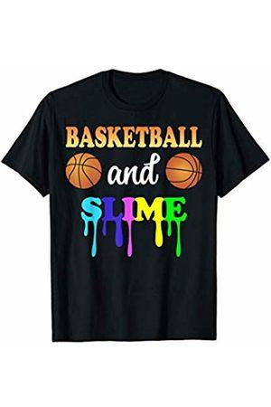 Slime and Basketball Tee Shirt Slime and Basketball Girls Teenager DIY Sport Lover Gift T-Shirt