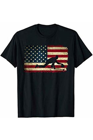 U.S.A Winter Sports Games Tees & Gifts USA American Flag Red White Curling Stone Winter Sport T-Shirt