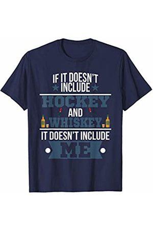 Funny Whiskey Tees Doesn't Involve Hockey & Whiskey Sports Fan T-Shirt