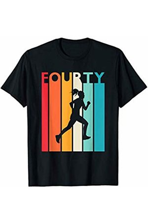 Shirtbooth: Running Birthday Shirts 40th Birthday Gift Vintage Running Shirt for 40 Year Old T-Shirt