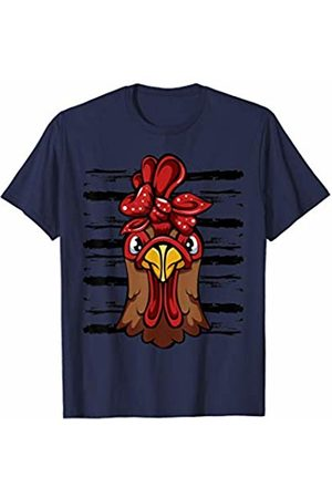 Chicken bandana shirt Chicken with bandana headband cute t-shirt T-Shirt