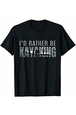 Kayak Accessories Equipment & Gifts Co. I'd Rather Be Kayaking Graphic Kayaker Gifts Water Sport USA T-Shirt