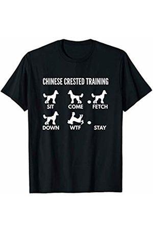 PedigreePrints Chinese Crested Training - Chinese Crested Dog Tricks T-Shirt