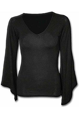 Spiral Direct Women's Gothic Elegance-V Neck Goth Sleeve Top Long 001