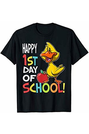OKAI Tees First Day of School Shirts Happy 1st Day of School Shirt Back to School Duck T-Shirt