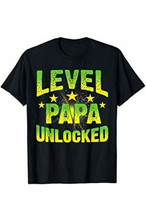 LVGTeam Level Papa Unclocked t-shirt for new Fathers