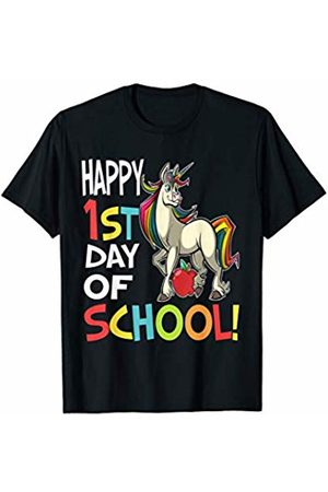 OKAI Tees First Day of School Shirts Happy 1st Day of School Shirt Back to School Unicorn T-Shirt