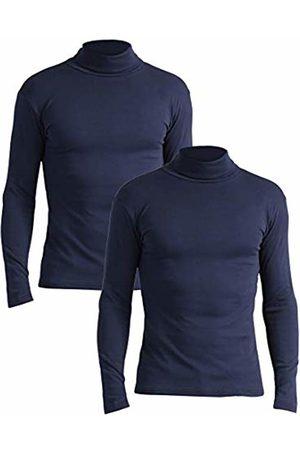 Lower East Slim Fit Rollkragen Shirt Turtleneck, Navy), X-Large