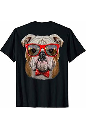 Fox Republic T-Shirts Grumpy English Bulldog in Retro Sunglass and Bow Tie T-Shirt