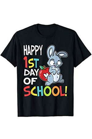 OKAI Tees First Day of School Shirts Happy 1st Day of School Shirt Back to School Rabbit T-Shirt