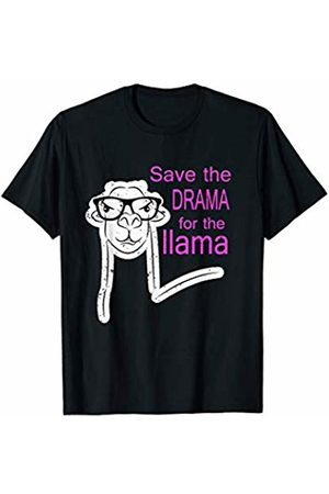 Save The Drama For The Llama Apparel & Gifts Save The Drama For The Llama Funny Face with Glasses Gift T-Shirt