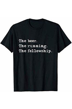 Mystic Trek Alcohol Shirts Men T-shirts - The Beer The Running The Fellowship T-Shirt