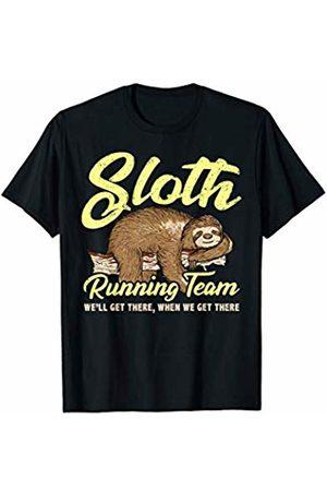 Nerd Ninja Running Sloth Running Team Lazy Sloth We'll Get There T-Shirt