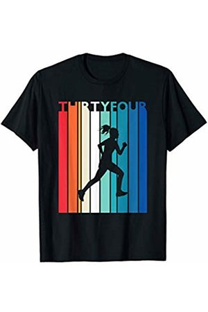 Shirtbooth: Running Birthday Shirts 34th Birthday Gift Vintage Running Shirt for 34 Year Old T-Shirt