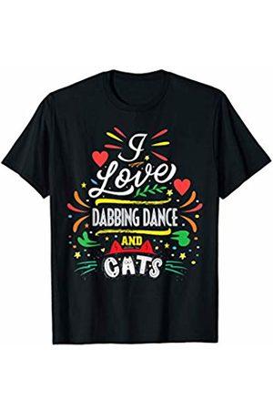 dancing shirt for cat lover Women T-shirts - I Love Dabbing Dance And Cats Sarcasm T-Shirt