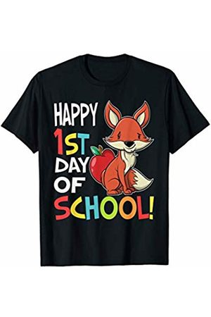 OKAI Tees First Day of School Shirts Happy 1st Day of School Shirt Back to School Fox T-Shirt