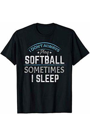 Softball - By Tick Tock Softball Ball Game Funny Baseball Field Sports Pitcher Gift T-Shirt