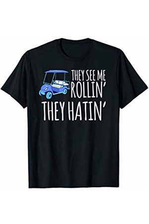 Funny Golf Shirts They See Me Rollin They Hatin Funny Golf T-Shirt