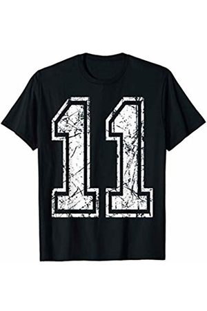 Sports Jersey Number Apparel Sports Jersey Grunge Number 11 Team Player Birthday Gift T-Shirt