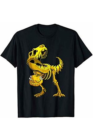 TheHolidayCouture Cool Halloween T-Rex Skeleton Dinosaur and Pumpkin T-Shirt